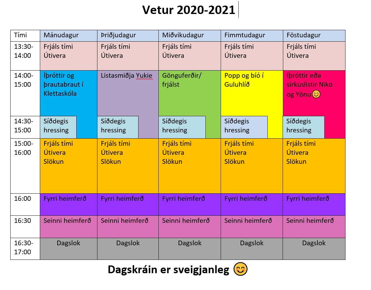 Vetrarstarf 2020-2021