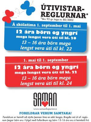Saman Útivistartími félagsmiðtöð
